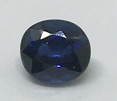 Natural 1.12ct Blue Sapphire UNHEATED Oval New VVS *Certified* USA