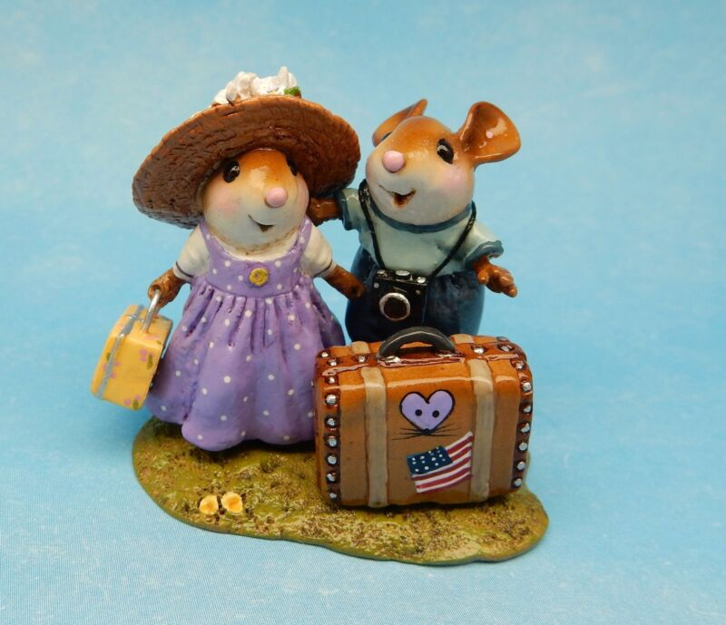 Wee Forest Folk THE HONEYMOONERS, I Love WFF Club Piece 2016, Mouse Expo