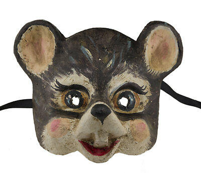 Mask from Venice Mouse Grey in Paper Mache Collection Face Child 2406