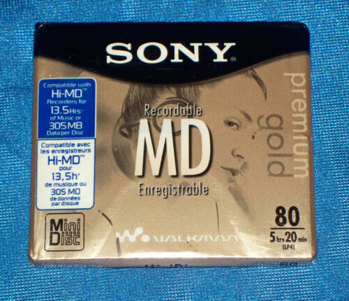 Sony MDW80PL Premium Gold MiniDisc NEW