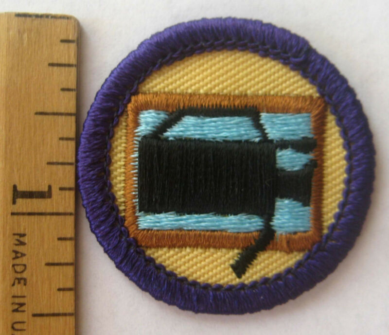 Girl Scout 1990-2001 Junior VIDEO PRODUCTION BADGE Camcorder Camera Movie Patch