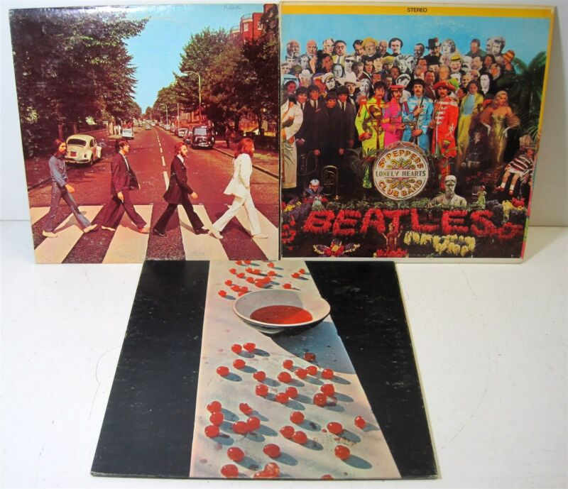 D) Vinyl: The Beatles Abbey Road 383 McCartney 3363 Apple Sgt. Pepper's 2653