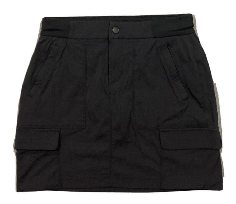 Athleta Trekkie Hiking Casual Athletic UPF 50+ Cargo Skort Skirt  Women 6  Blk