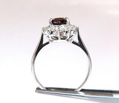GIA Certified 1.47ct Natural Fancy Orange Brown Diamond Halo Ring  14 Karat 6
