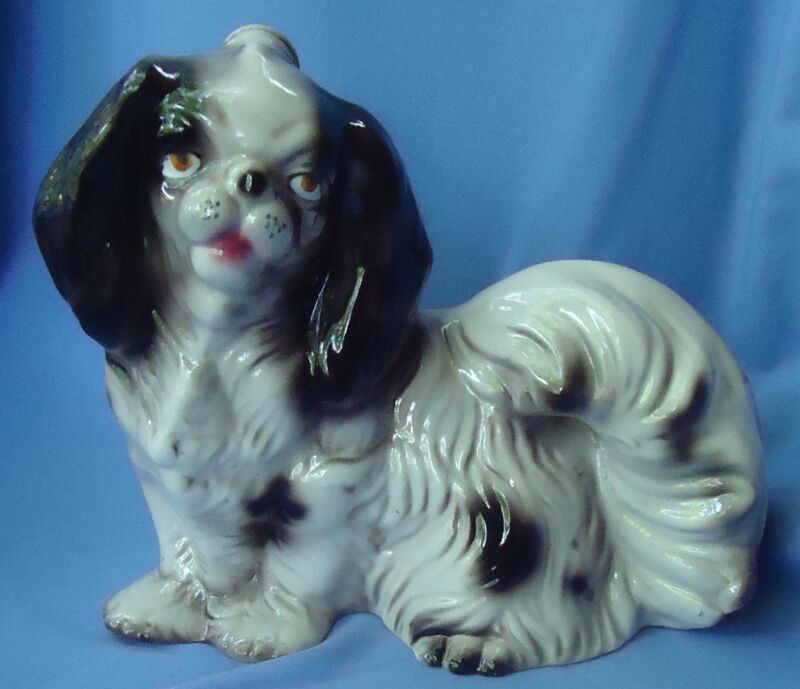 JAPANESE CHIN SHIH TZU PEKINGESE  DOG DECANTER ITALY 10""