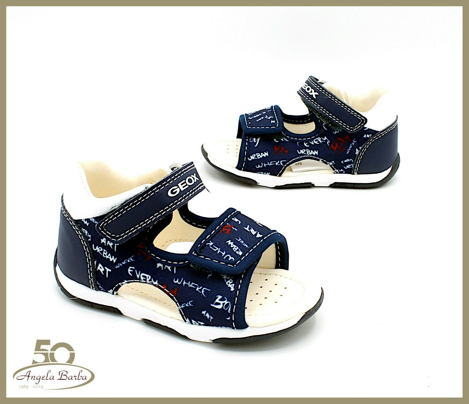 Geox Sandals when He Was a Child for Baby Leather First Steps Shoes &