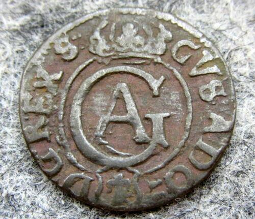 SWEDISH LIVONIA CITY OF RIGA GUSTAV II ADOLF 1621 - 1634 SOLIDUS - 1/3 GROSCHEN