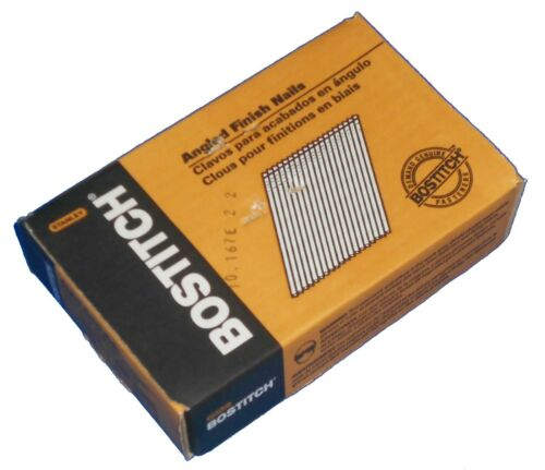 "1-1/2"" Finish Nails Bostitch FN1524 New 15-GA Box of 3,655 Chisel 38mm Angled"