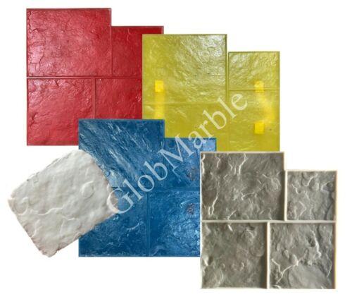 5 Pc Ashlar Concrete Stamps Set. Ashlar Slate Stone Stamping Mats SM 3001