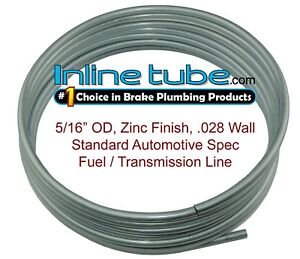 OE Zinc Automotive Steel Brake Fuel Transmission Line Tubing 5/16