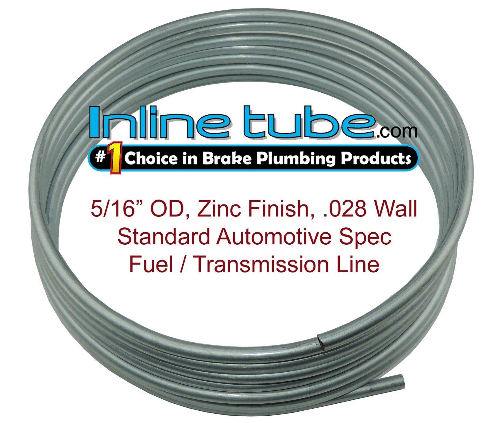 OEM Zinc Steel Brake Line Tubing Kit 3//16 OD Coil Roll /& SAE Tube Nut Fittings L-2-1 + L-3-2