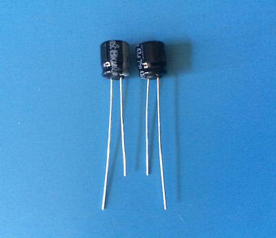 2x Ece-a1eu470 Panasonic Capacitor Aluminum Electrolytic 47uf 25v Radial 2ps