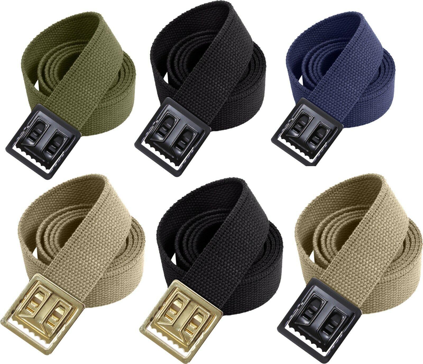 Military Heavy Duty 100% Cotton Web Belt with Open Face Buckle Belts