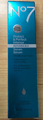 Boots No7 Protect & Perfect Intense Advanced Serum 50 mL/ 1.69 fl oz~ Brand New