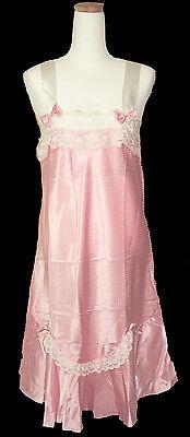 Camisole Sleepwear Lacy Satin Polyester 100% MI. Korea Free Size Pink & Wht dot