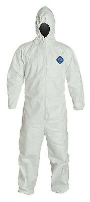Dupont Tyvek Ty127s Disposable Coverall With Hood Elastic Cuff White 1 Suit