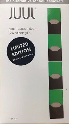 Juul Cool Cucumber Pods Limited Edition 1 Pack (4 Pods) ONE DAY SALE