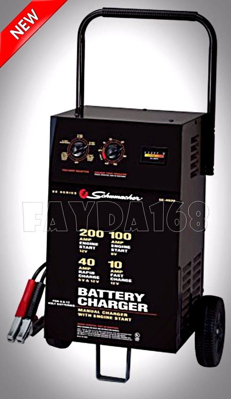 schumacher heavy duty auto battery charger jump starter. Black Bedroom Furniture Sets. Home Design Ideas