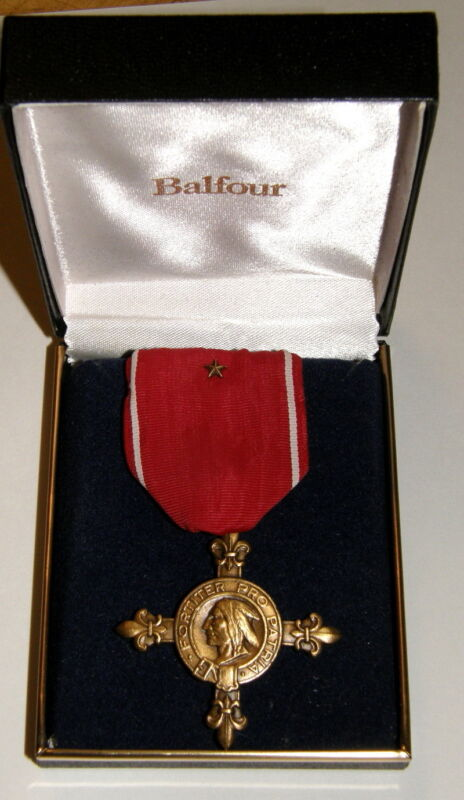 Society of Colonial Wars War Service Cross with bronze star