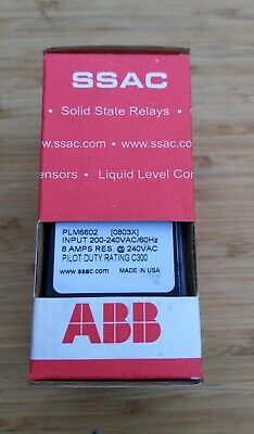 New Plm 6602 Ssac Abb Asea Brown Boveri 3 Three Phase Line Monitor Relay