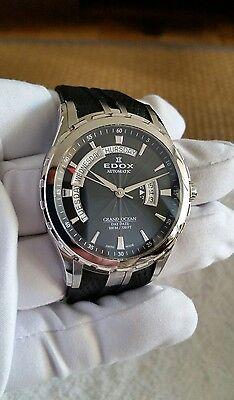 Edox Grand Ocean Swiss Made Automatic Men's Watch 83006 3 NIN
