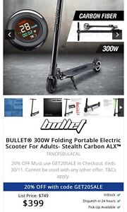 Bullet 300W Electric fold up scooter for adults