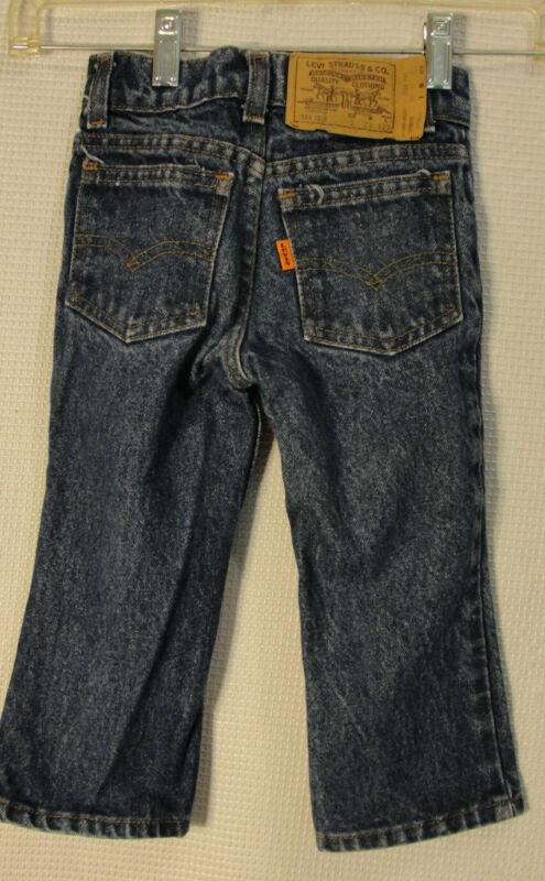 Vtg Little Levis Orange Tab Straight Leg Blue Jeans 2 Toddler USA Made
