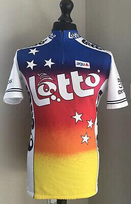AGU Lotto Retro Eddy Merckx Cycling Jersey Shirt Short Sleeve See Desc. Vintage
