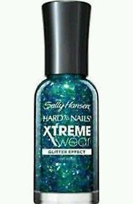 Sally Hansen Hard As Nails Xtreme Wear Nail Polish Glitter #950 Court Jest Green