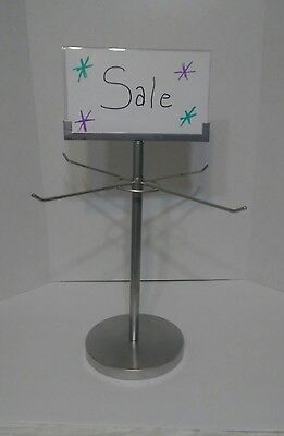 "(5)Retail Store Display Hanging Counter Top Spinner Rack - 1Tier/4 Peg Wire 17""H ()"
