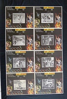 """JACKIE CHAN """"SNAKE IN THE EAGLE'S SHADOW"""" FULL LOBBY CARD SET UNUSED MEXICAN"""