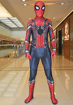 Iron Spider Suit Spiderman Homecoming Costume Halloween Cosplay For Adult/Kids