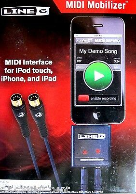 Line 6 MIDI Mobilizer   New In Box  for 30-pin iOS  iPod / iPhone / iPad