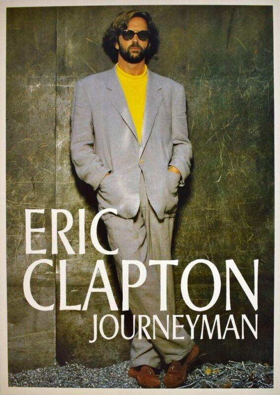 Eric Clapton Journeyman Rare UK Import Poster 23.5 x 34