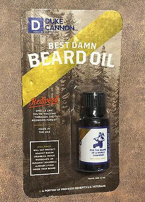 Duke Cannon Supply Co Best Damn Beard Oil Balm Redwood Men Travel Size 0.5