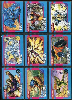 a52d4be667b 1992 X-MEN SERIES I 1 IMPEL MARVEL COMPLETE CARD SET  1-100