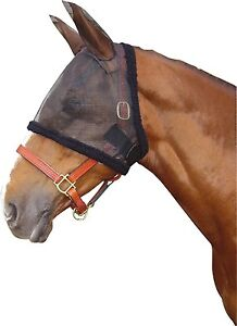 Fly mask Fly cap Harrys Horse with Ears and Fur stable Size XL Warmblood