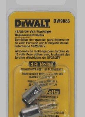 Dewalt Dw9083 18v Flashlight Replacement Bulbs 2pk