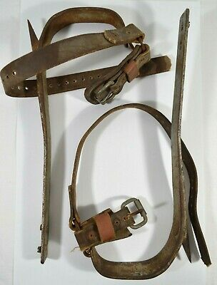 Bell System F Buckingham I-79 Lineman Pole Tree Climbing Gaff Spikes As Is
