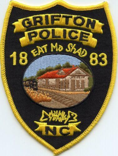 GRIFTON NORTH CAROLINA NC Eat Mo Shad SHAD FISH POLICE PATCH