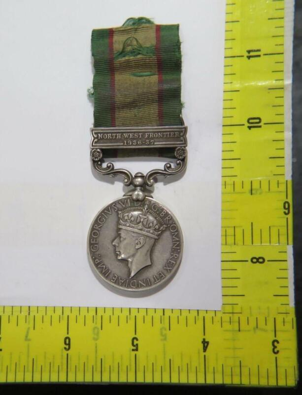 1936-37 BRITISH INDIA GENERAL SERVICE MEDAL NORTH WEST FRONTIER GB WWII ISSUED🌈