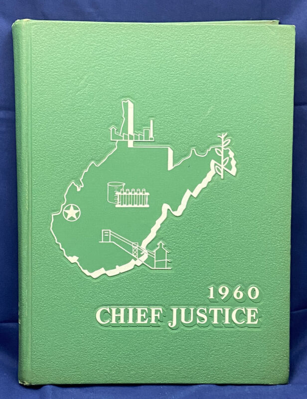 """1960 Marshall College University """"Chief Justice"""" Yearbook Annual Huntington WV"""