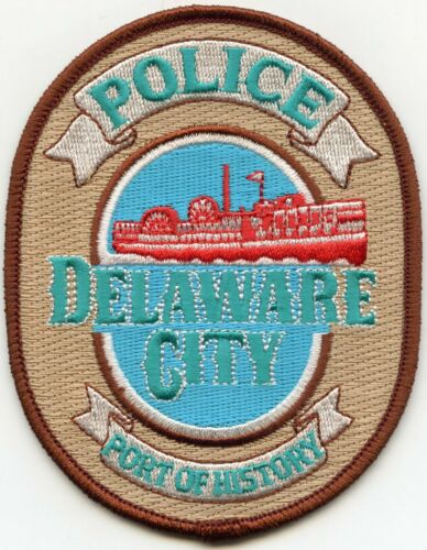 DELAWARE CITY DELAWARE DE Port of History POLICE PATCH