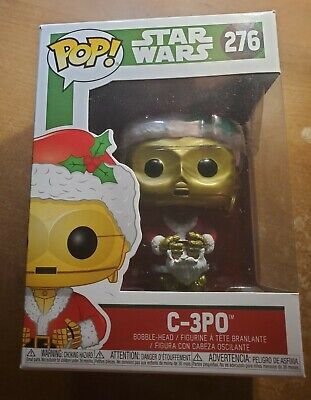 Funko Pop Star Wars C-3PO Santa #276 Christmas Figure 2018 ~ Brand New ~