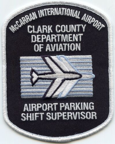 CLARK COUNTY NEVADA NV AVIATION McCarran AIRPORT PARKING POLICE PATCH