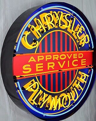 """Giant Chrysler Plymouth Service 36"""" Round Neon Sign 9CRYPL w/ Free Shipping"""