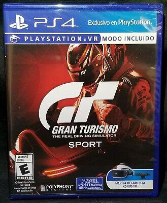 Gran Turismo Sport Vr Mode Incl Playstation 4 Ps4 Us English Ver Spanish Artwork