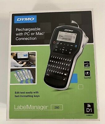Dymo Labelmanager 280 Label Maker Printer Rechargeable Handheld Portable