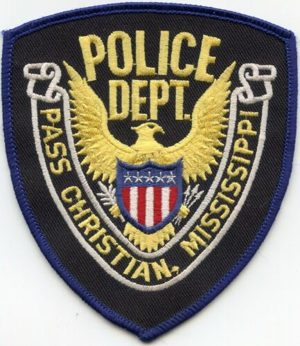 PASS CHRISTIAN MISSISSIPPI MS POLICE PATCH