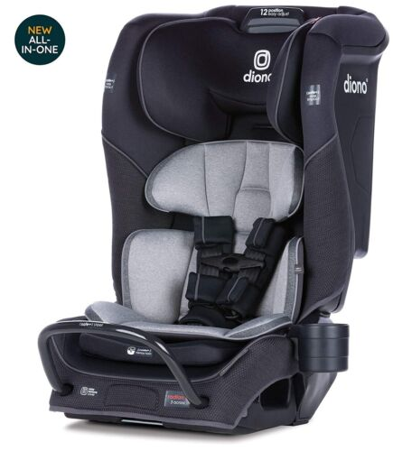Diono Radian 3QX All-In-One Booster Child Safety Car Seat Black Jet NEW